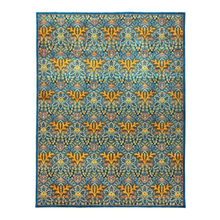 "Eclectic Hand Knotted Area Rug - 9' 2"" X 11' 10"""
