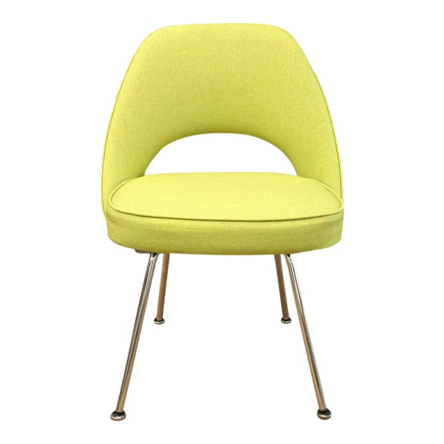 Saarinen Executive Side Chair, Honey Dew Green - Image 1 of 8