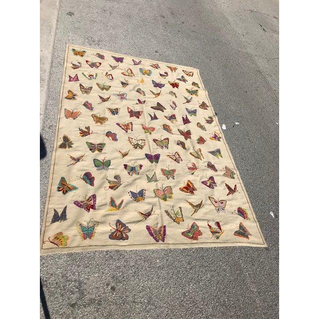 Handmade Butterfly Kilim Rug - 6′9″ × 9′10″ - Image 4 of 4