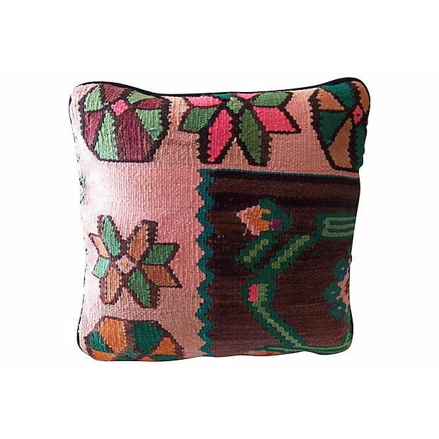 Multicolor Kilim Pillow - Image 1 of 3