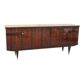 French Art Deco Exotic Macassar Ebony Sideboard / Credenza Circa 1940s
