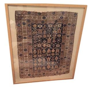 Framed Old Caucasian Shirvan Rug