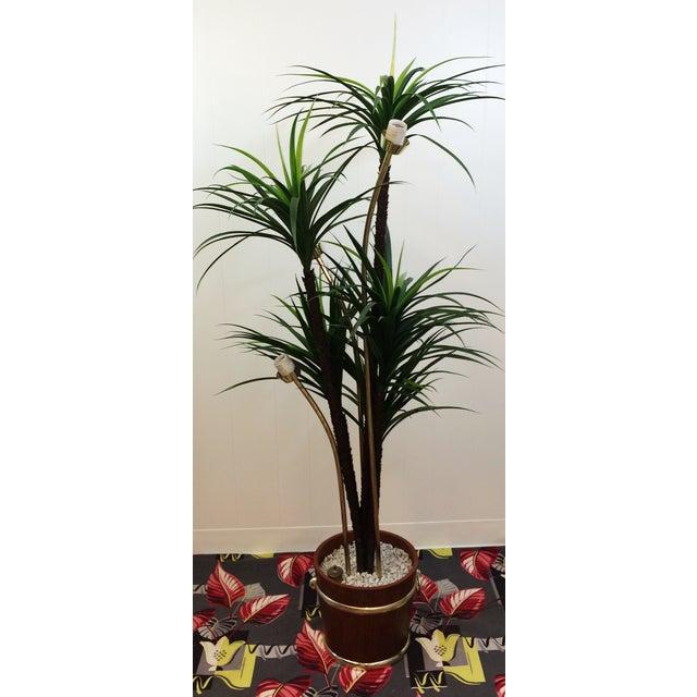 Mid Century Spaghetti Spun Lucite Palm Tree Lamp - Image 8 of 8