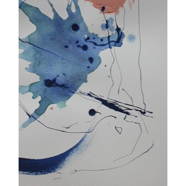 Image of Abstract III, Indigo Watercolor Painting