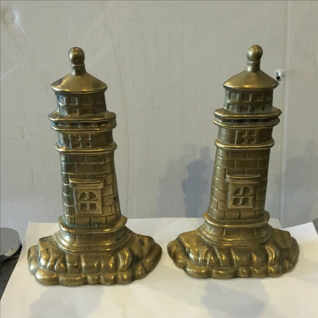 Brass Lighthouse Bookends - A Pair - Image 2 of 6