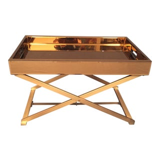 Modern Mirror Glass Coffee Table