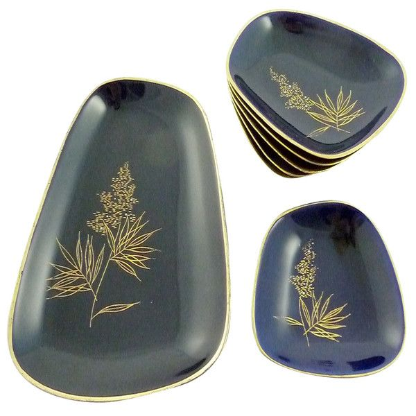Mid-Century Cobalt Serving Dishes - Set of 7 - Image 3 of 4