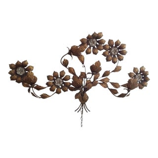 Floral Bronze Wall Lamp