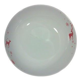 Winter Lodge Red Porcelain Serving Bowl