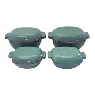 1930's USA Glidden Stoneware Casserole Set - Set of 4