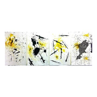 Untitled 5. Drawing. Ink, Acrylic, Charcoal on Paper. Framed. (4 pieces total)