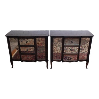 Buying & Design Italian Mirrored Commode Chests- A Pair
