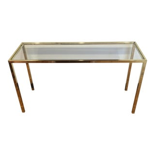 Vintage DIA Brass & Glass Console Table
