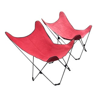 Mid-Century Collapsible Butterfly Chairs - Pair