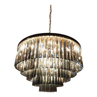 RH 1920's Odeon Clear Glass Fringe 5-Tier Chandelier