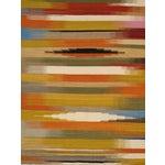 Image of Modern Reversable Yellow Wool Kilim - 5' x 8'