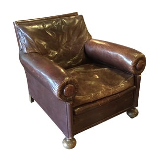 1920's Leather English Club Chair
