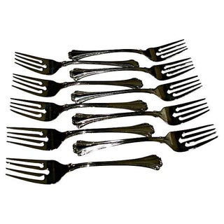 Silver Plate Salad Forks - Set of 10