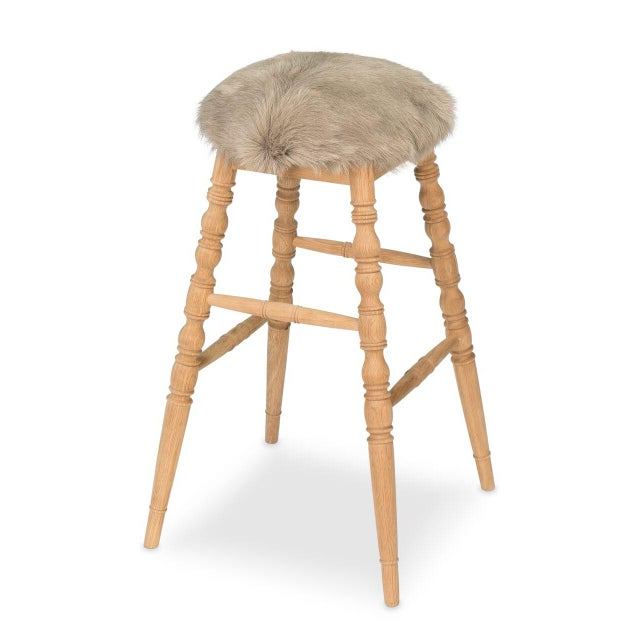 Sarreid LTD Beige 'Winoma' Bar Stool - Image 3 of 6