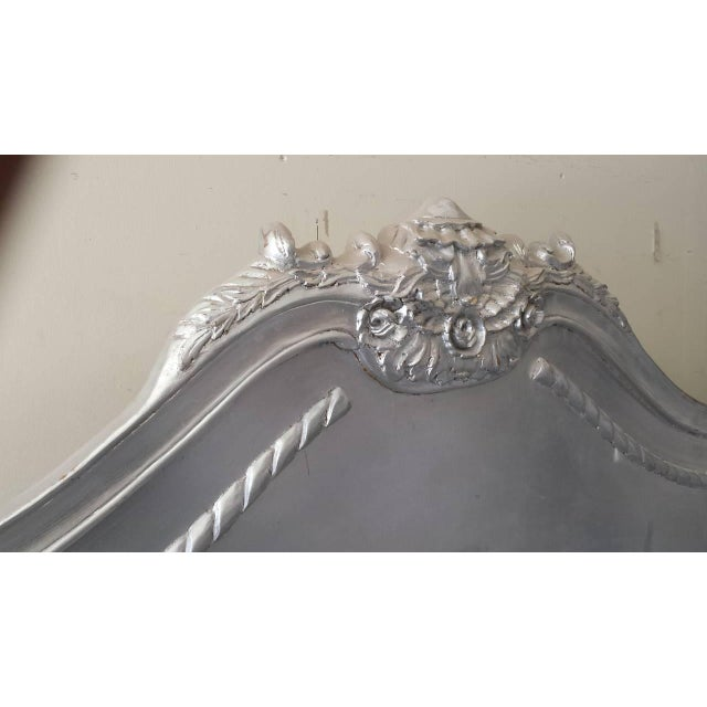 French Louis XV Style King Bed, Silver Leaf Finish - Image 3 of 4