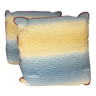 Lee Jofa Silk Pillows - A Pair