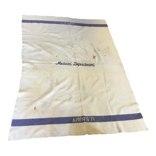 United States Navy Medical Department Wool Blanket