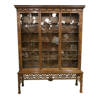 Baker Chippendale Mahogany Wall Cabinet