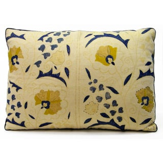 Yellow Down Feather Pillows - a Pair