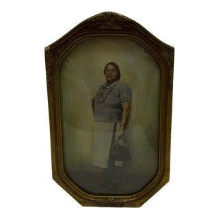 "Circa 1930 Vintage ""Black Woman Going to Work"" Photograph"
