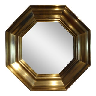 Michel Pigneres French Octagonal Brass Mirror