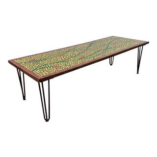 Mid-Century Tile Coffee Table
