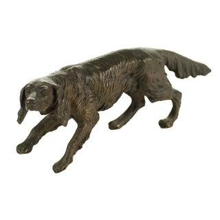 Vintage Austrian Bronze Setter Dog Figurine