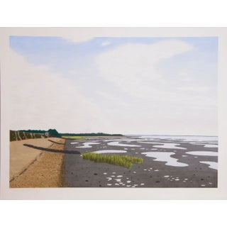 Bill Sullivan - Low Tide 7 Hand Colored Lithograph