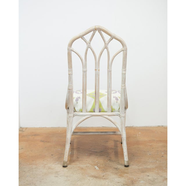 Rattan Upholstered Dining Chairs - Set of 6 - Image 3 of 8