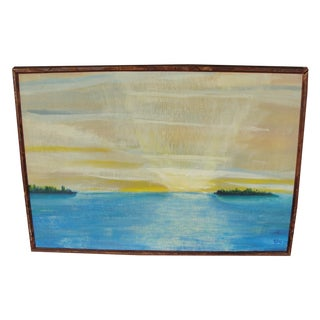 Impressionist Seascape Sunset Painting by EJH