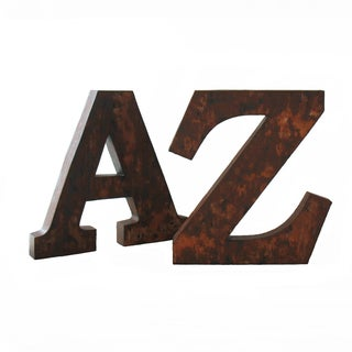 Large Metal Letters - A Pair