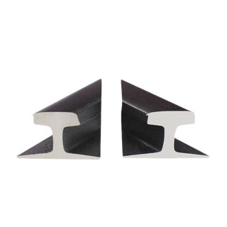 Pair of Rail Road Sections Bookends