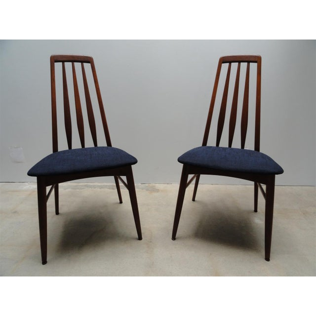 Danish Modern Eva Dining Chairs by Koefoeds Hornslet - Set of 4 - Image 3 of 10