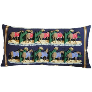 Hermès Philippe Ledoux Horse Silk Pillow