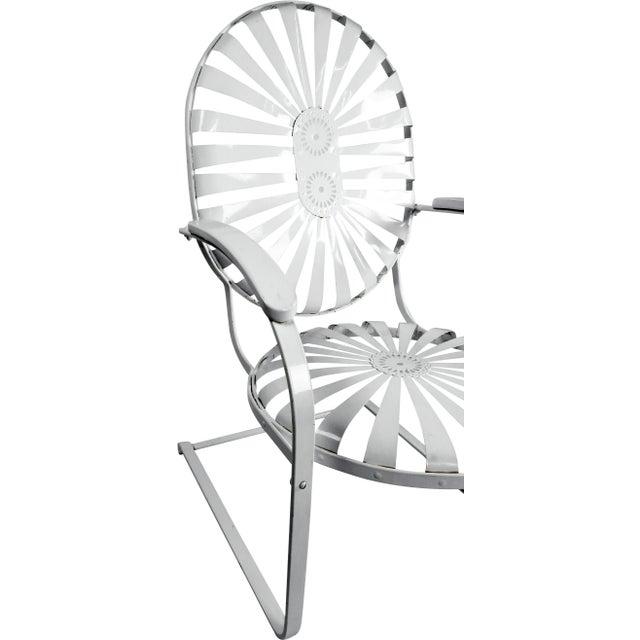 Francois Carre Vintage Sunburst Cantilevered Chairs - A Pair - Image 4 of 11