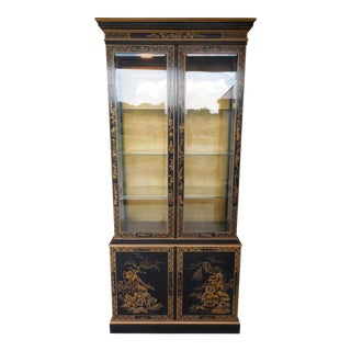 Drexel Et Cetera Chinoiserie Lighted Curio Cabinet