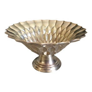 Mid-Century Honeycomb Solid Brass Bowl