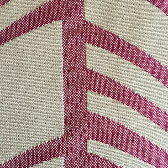 Pink & Ivory Graphic Throw Pillow with Insert - Image 3 of 5