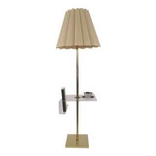 Hollywood Regency Floor Lamp Lucite Holder