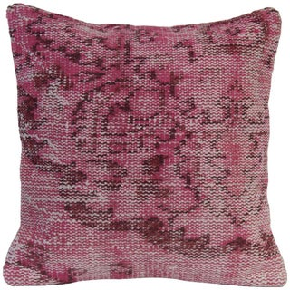 Pink Vintage Handmade Overdyed Pillow Cover