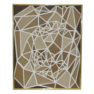 Geometric Abstract Mixed Media Tape Painting