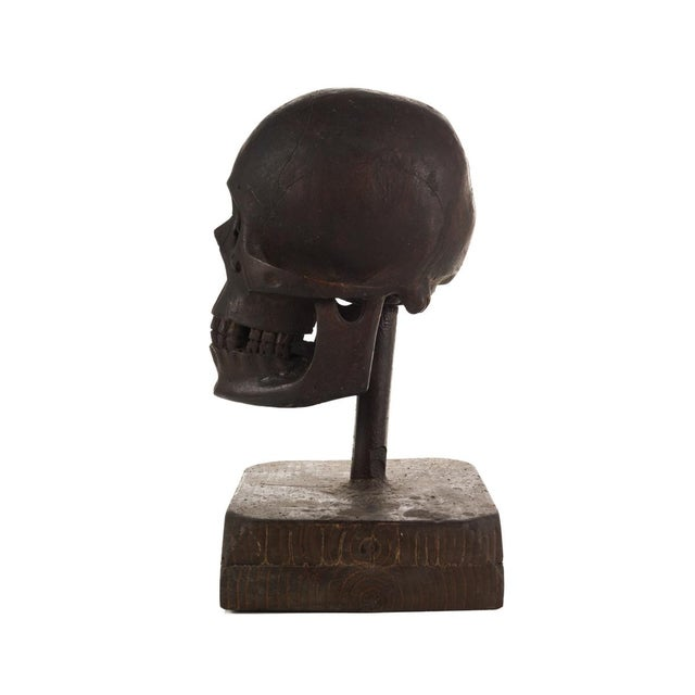 19th Century Hand Carved Wooden Skull - Image 8 of 9