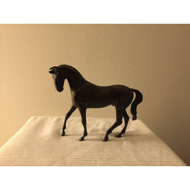Image of Bronze Colored Metal Horse Statue