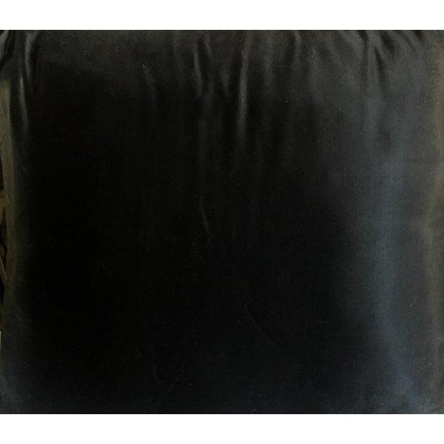 Image of Antique Black Crewel Work, Applique Pillow