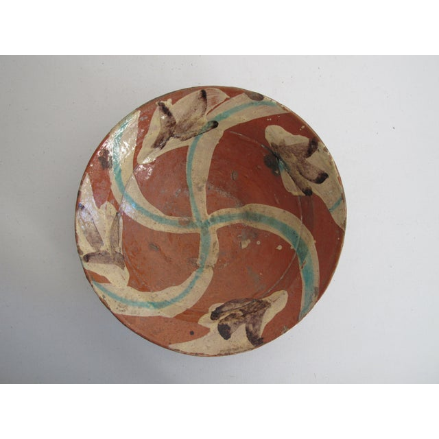 Terracotta Bowl with Flower Motif - Image 3 of 9